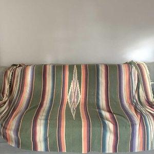 Mexican serape saltillo blanket 59.6 X 91